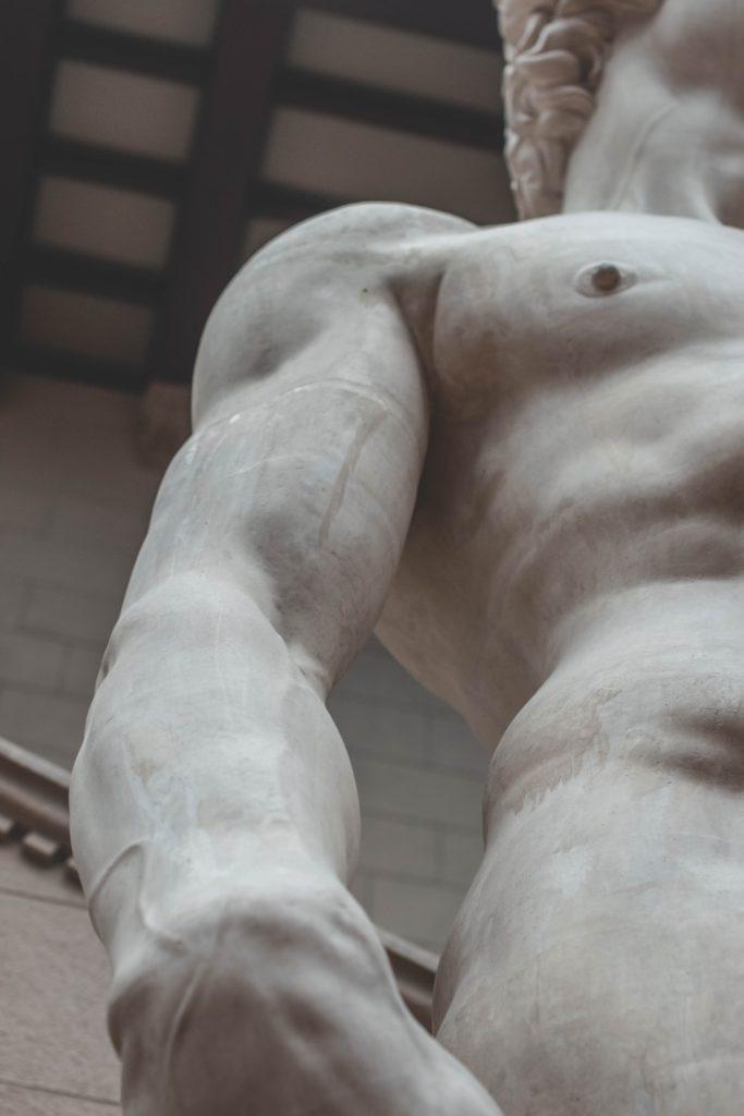 Dettaglio del David di Michelangelo